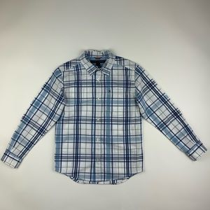 TOMMY HILFIGER Long Sleeve Plaid Shirt.
